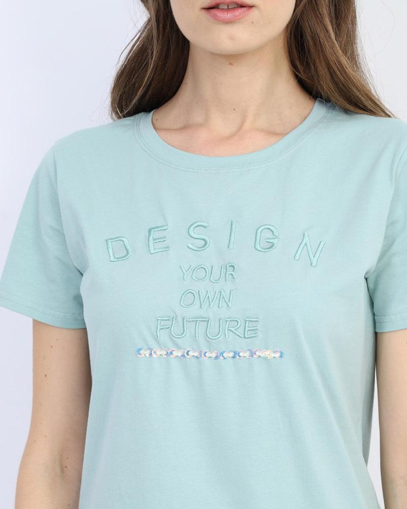 Green t-shirt blouse