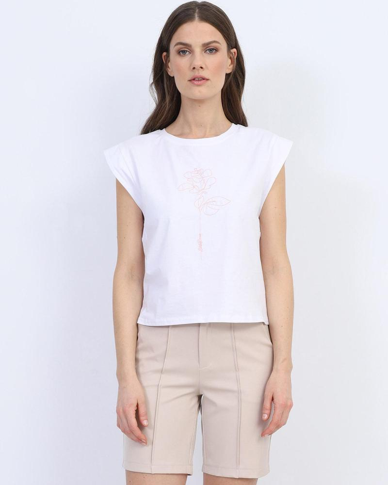 White t-shirt blouse