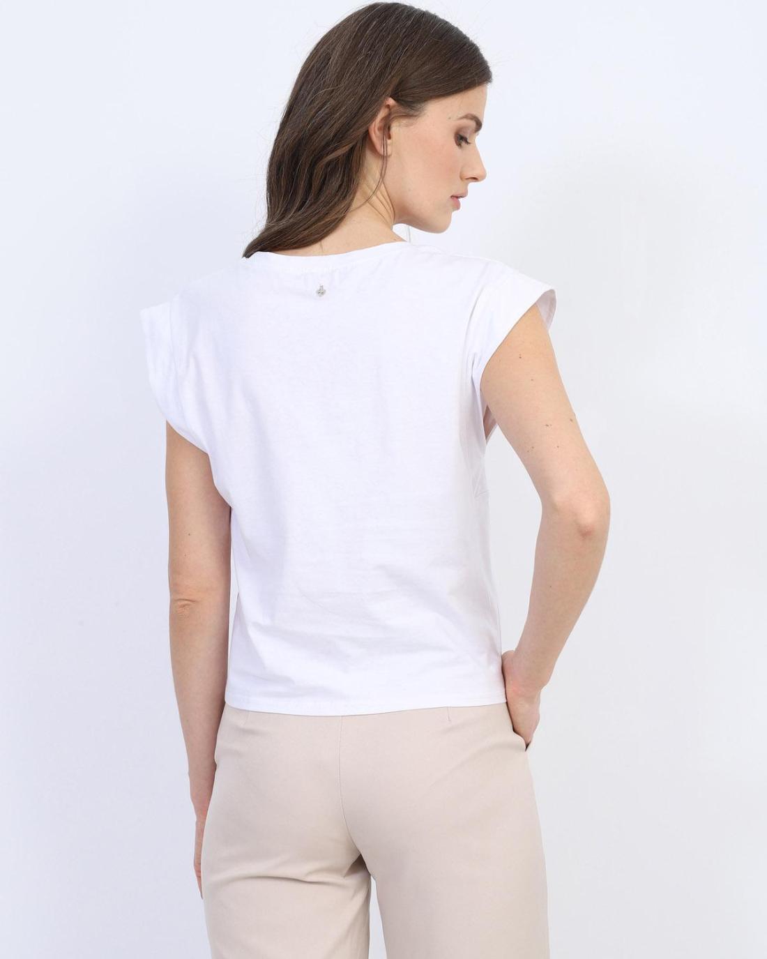 Weiße t-shirt bluse