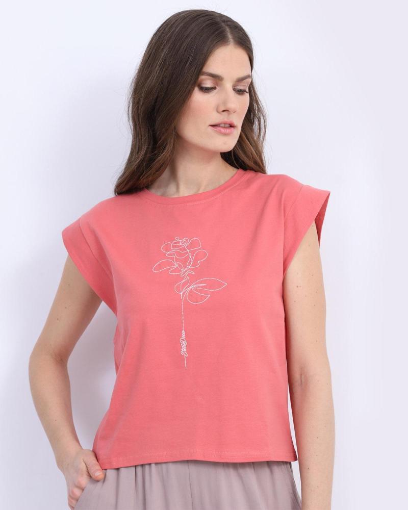 Rosa t-shirt bluse