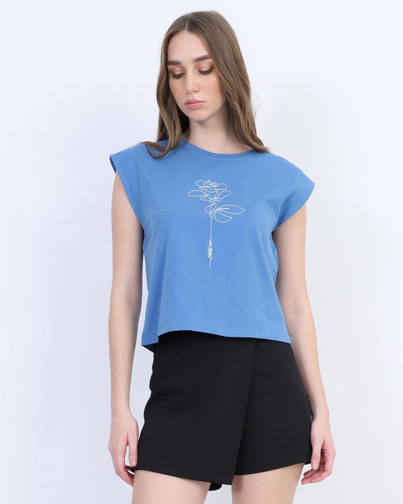 Μπλουζάκι t-shirt γαλάζιο