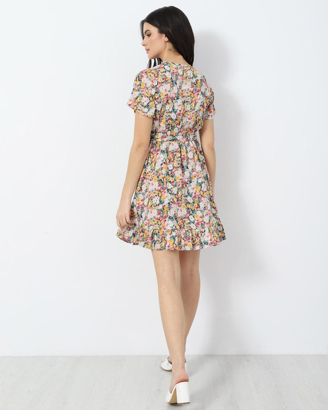 Mehrfarbig mini kleid
