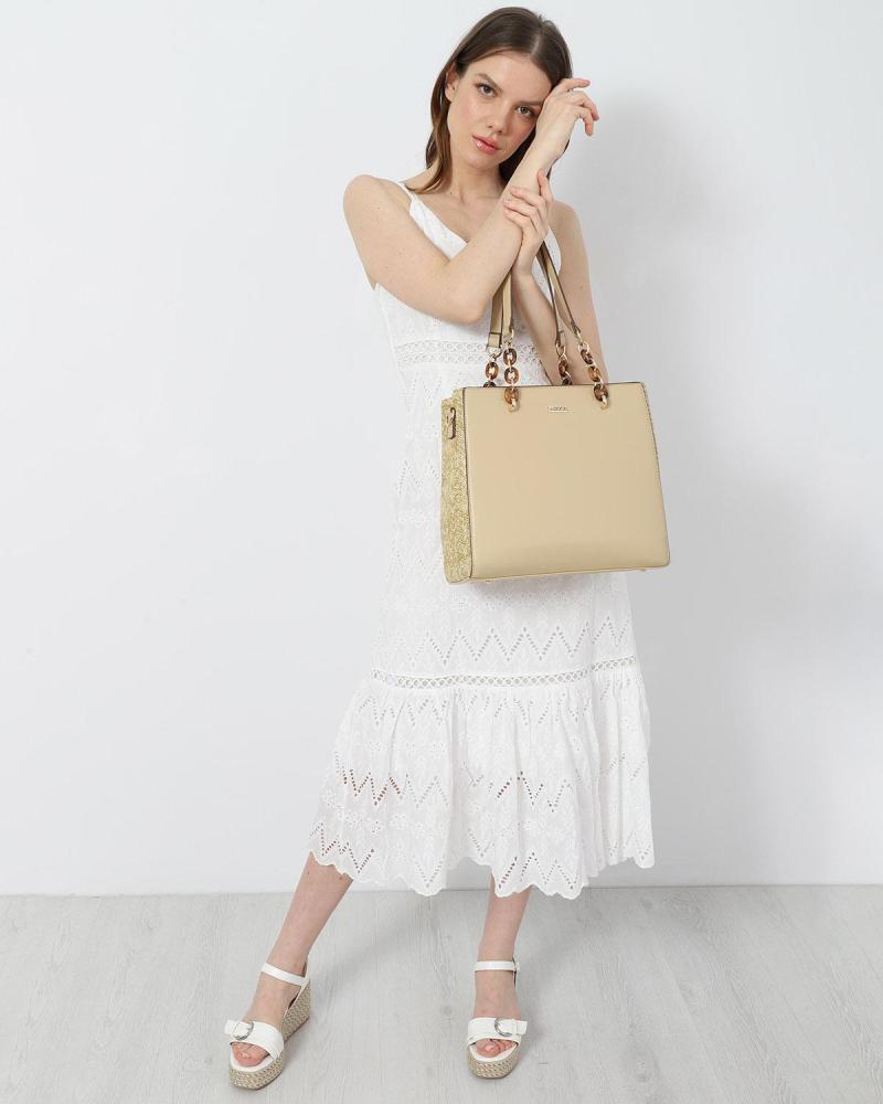 Μίντι φόρεμα άσπρο