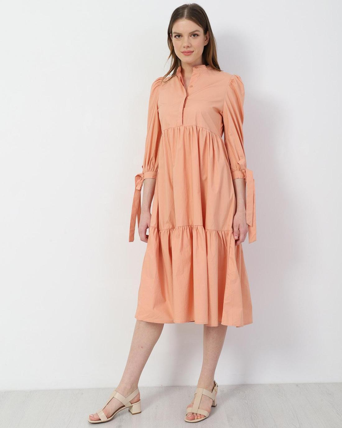 Rosa midi kleid