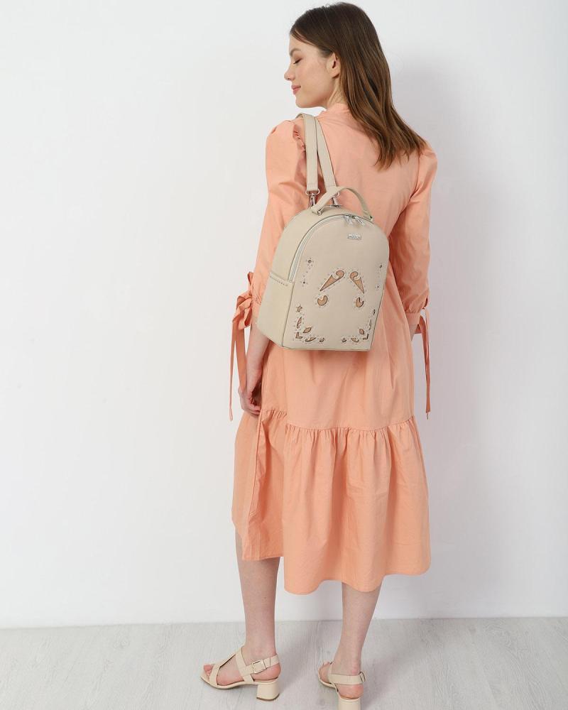 Coral midi dress