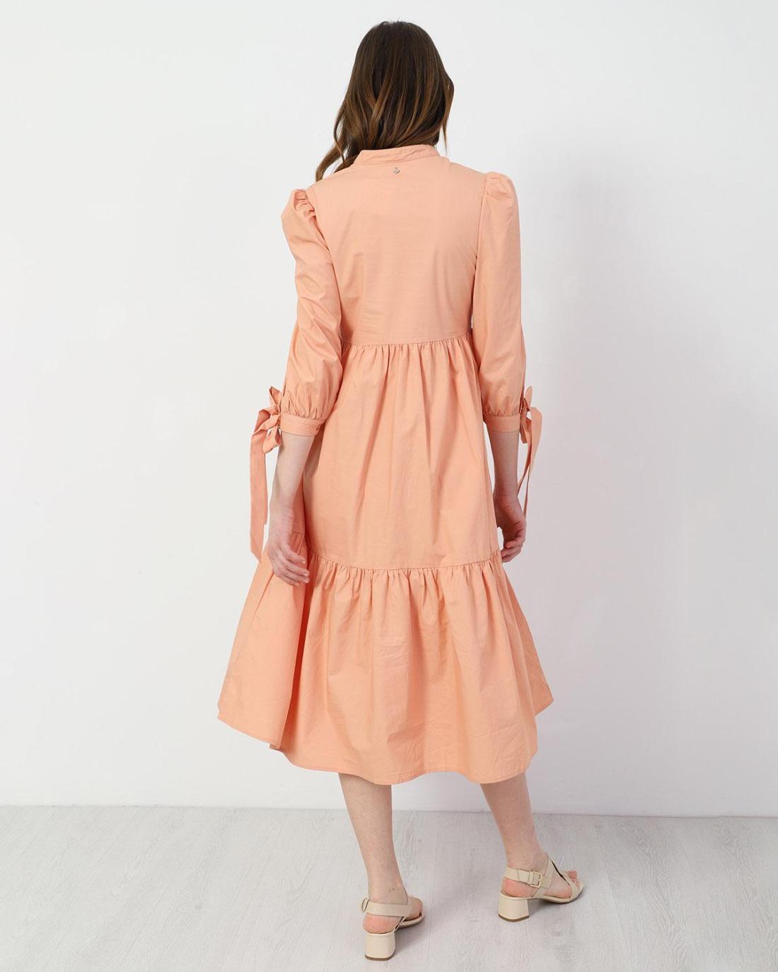 Μίντι φόρεμα κοραλί