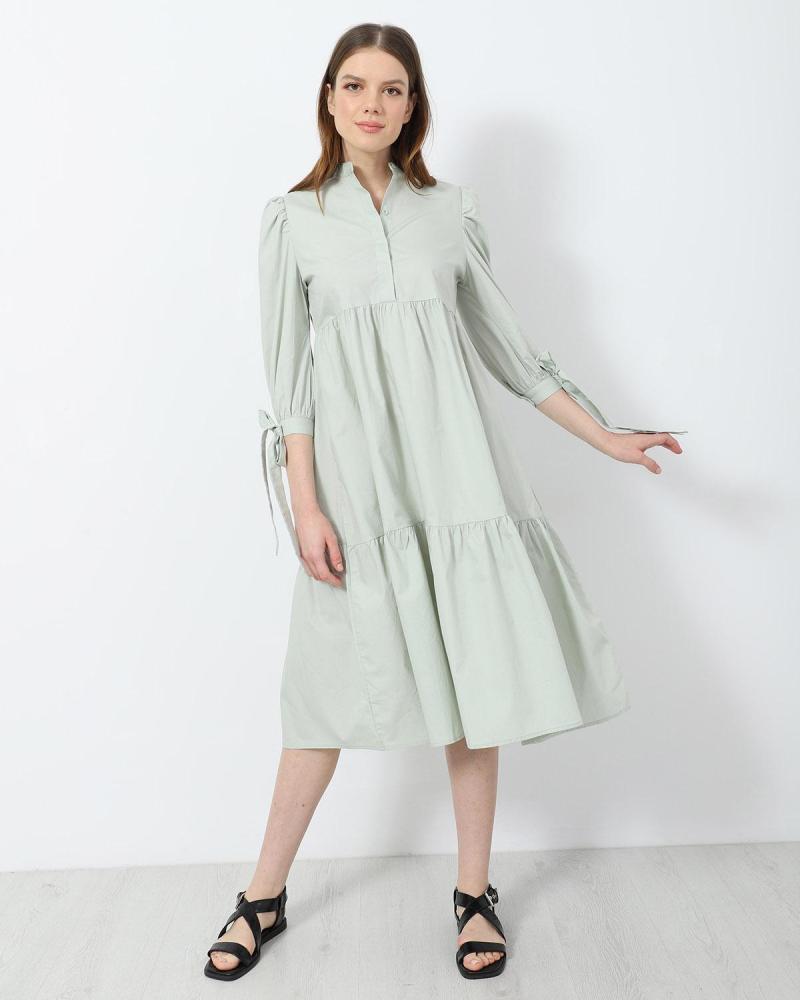 Grün midi kleid