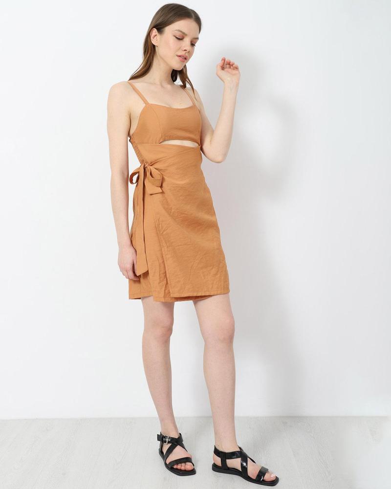 Μίνι φόρεμα μπεζ