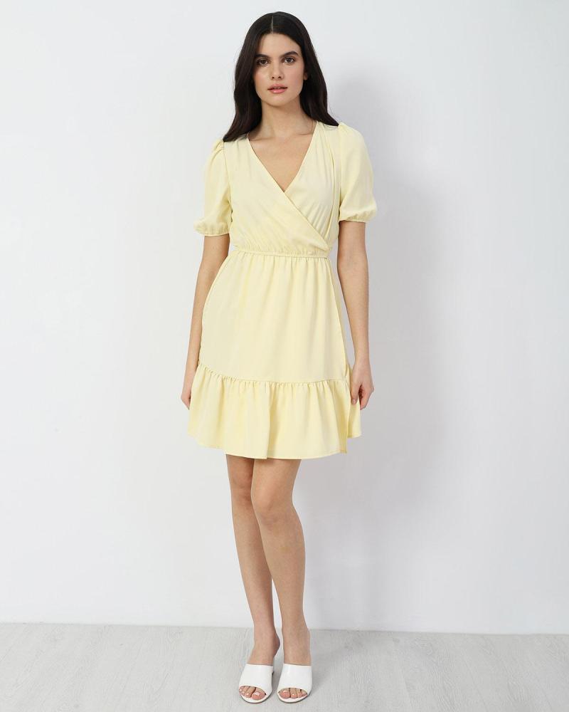 Gelb mini kleid