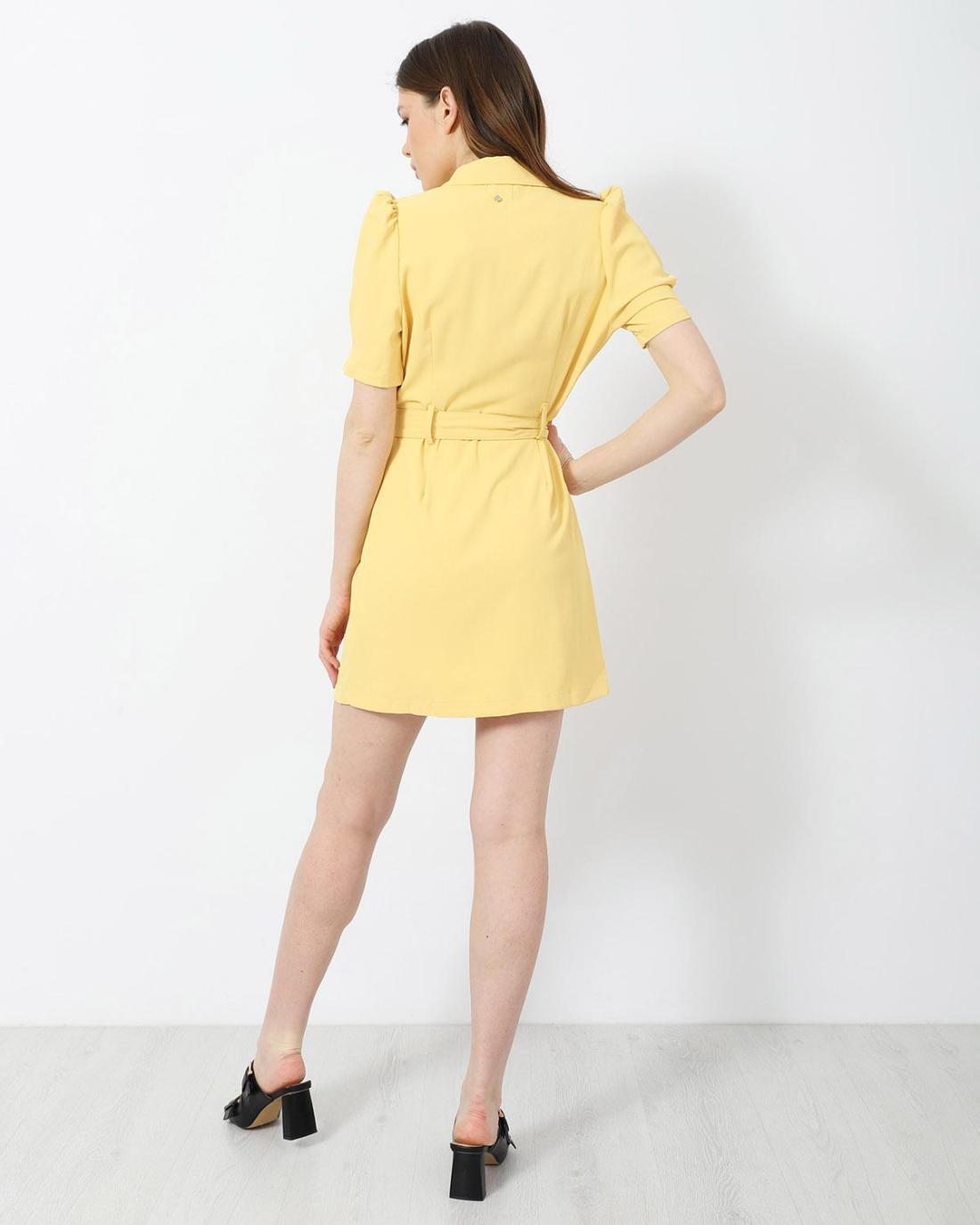 Μίνι φόρεμα κίτρινο
