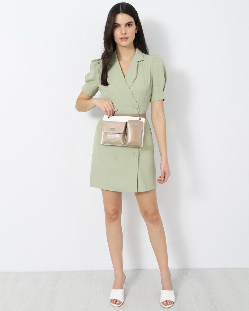 Mini khaki dress
