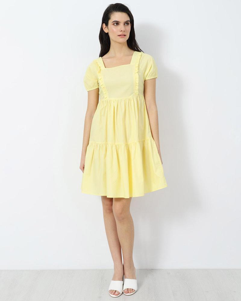 Yellow mini dress