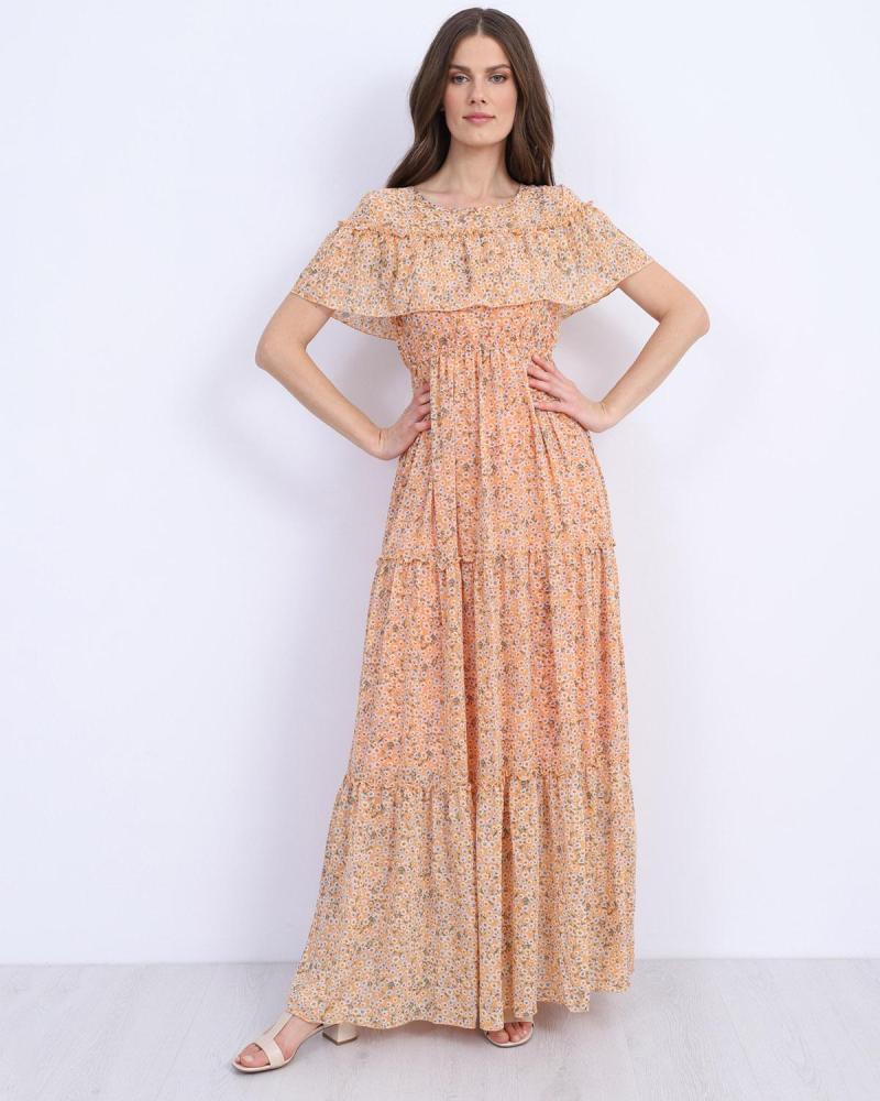 Orange maxi dress