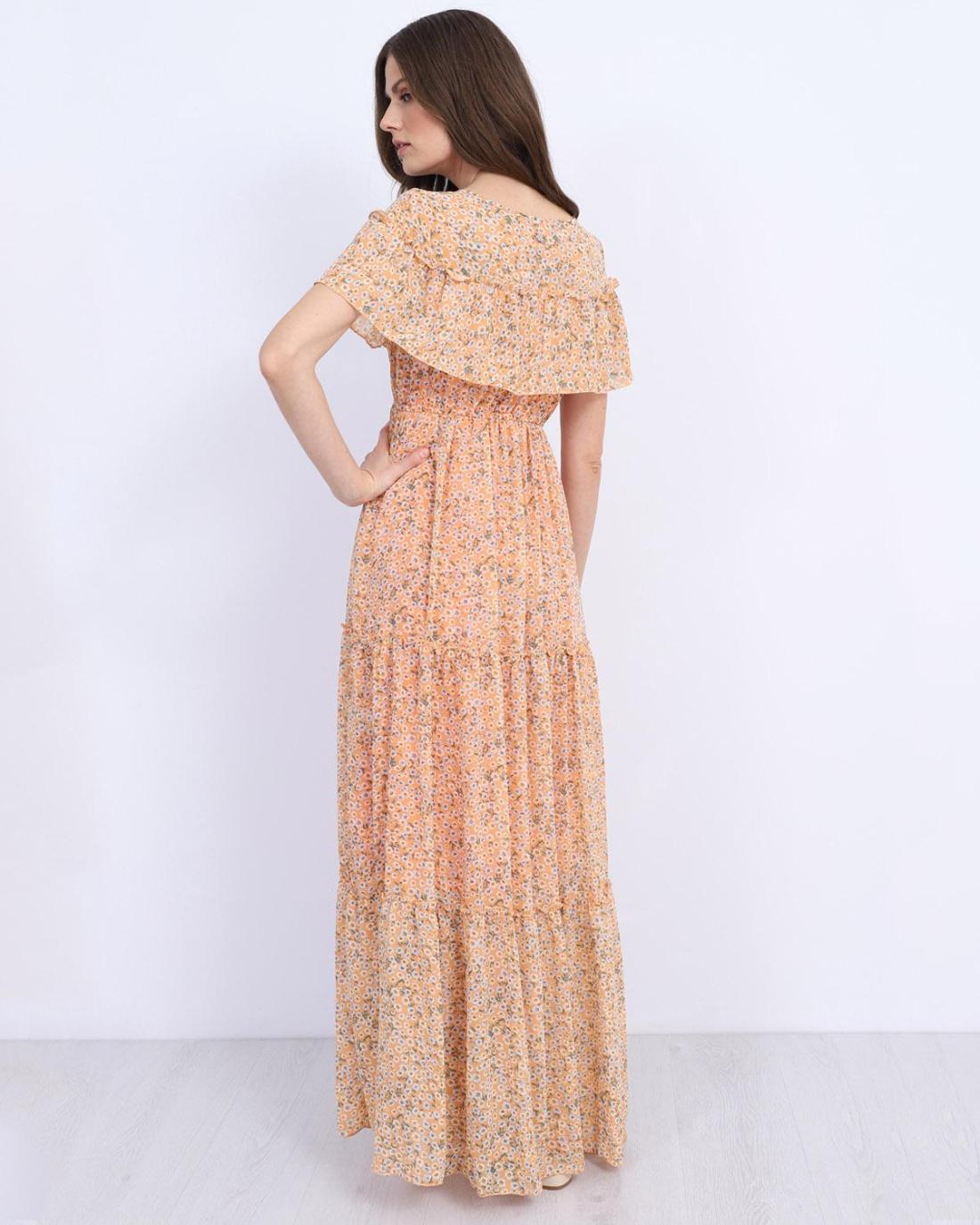 Μάξι φόρεμα πορτοκαλί