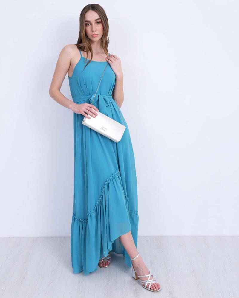 Hellblau maxi kleid