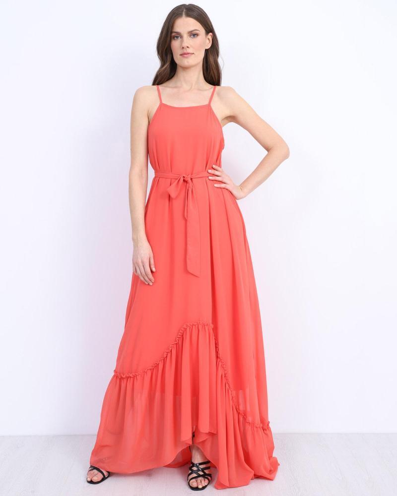 Μάξι φόρεμα κοραλί