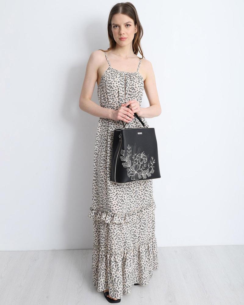 Μάξι φόρεμα μπεζ