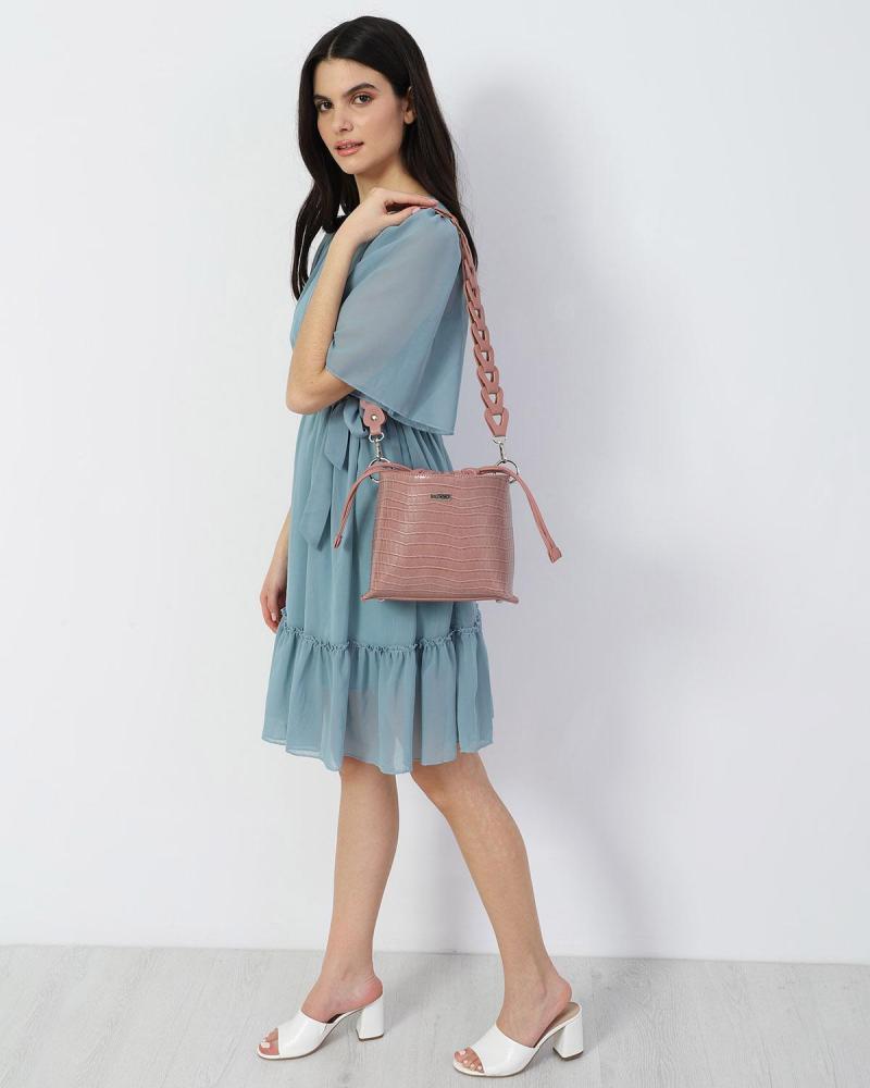 Μίνι φόρεμα γαλάζιο