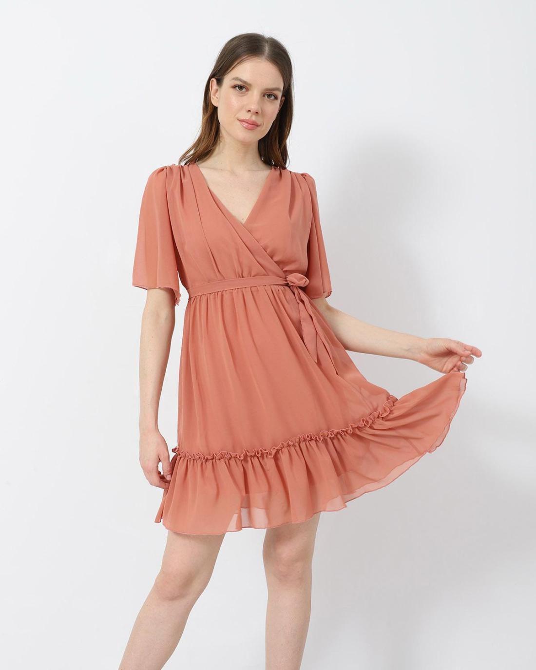 Μίνι φόρεμα κοραλί