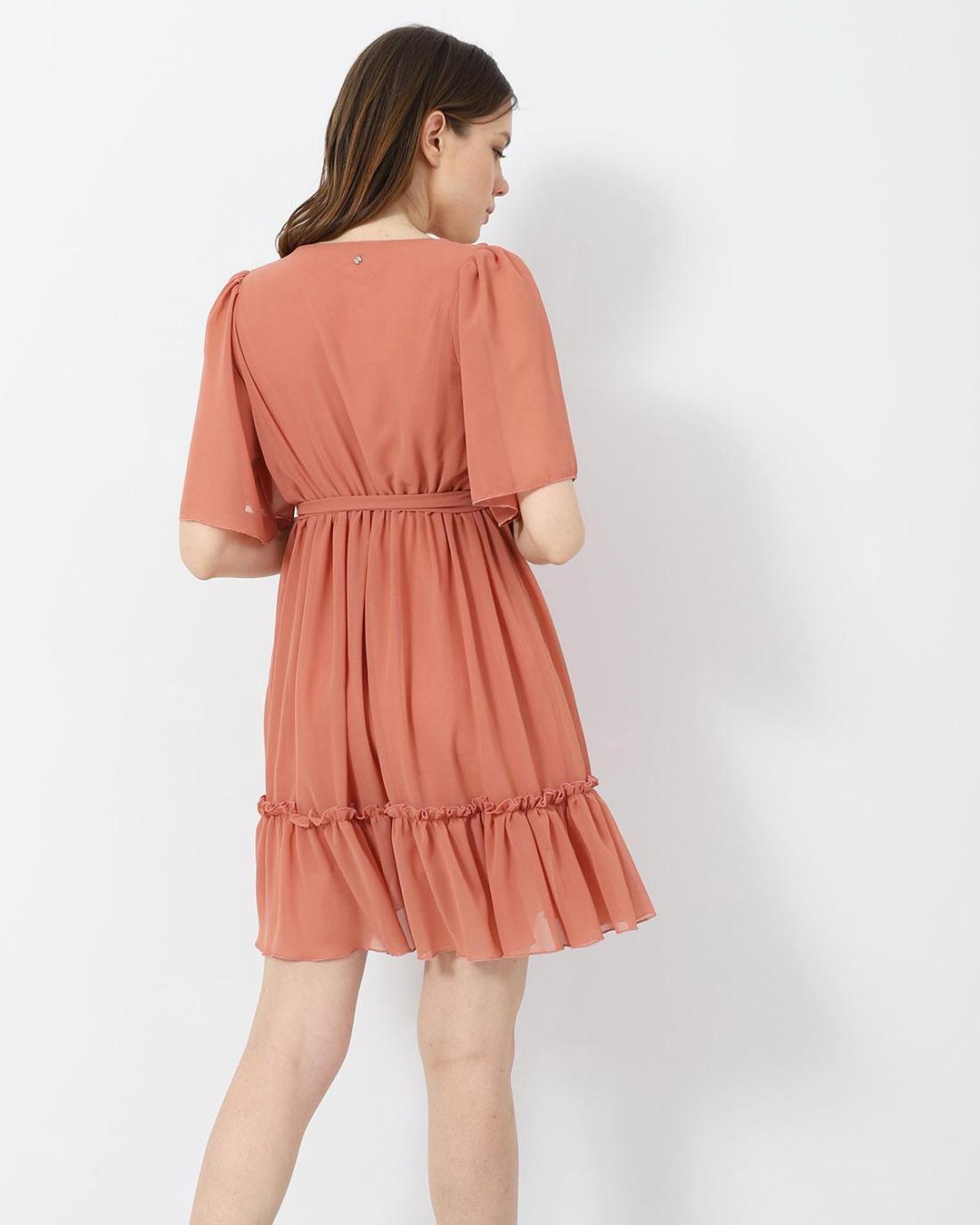Orange mini kleid