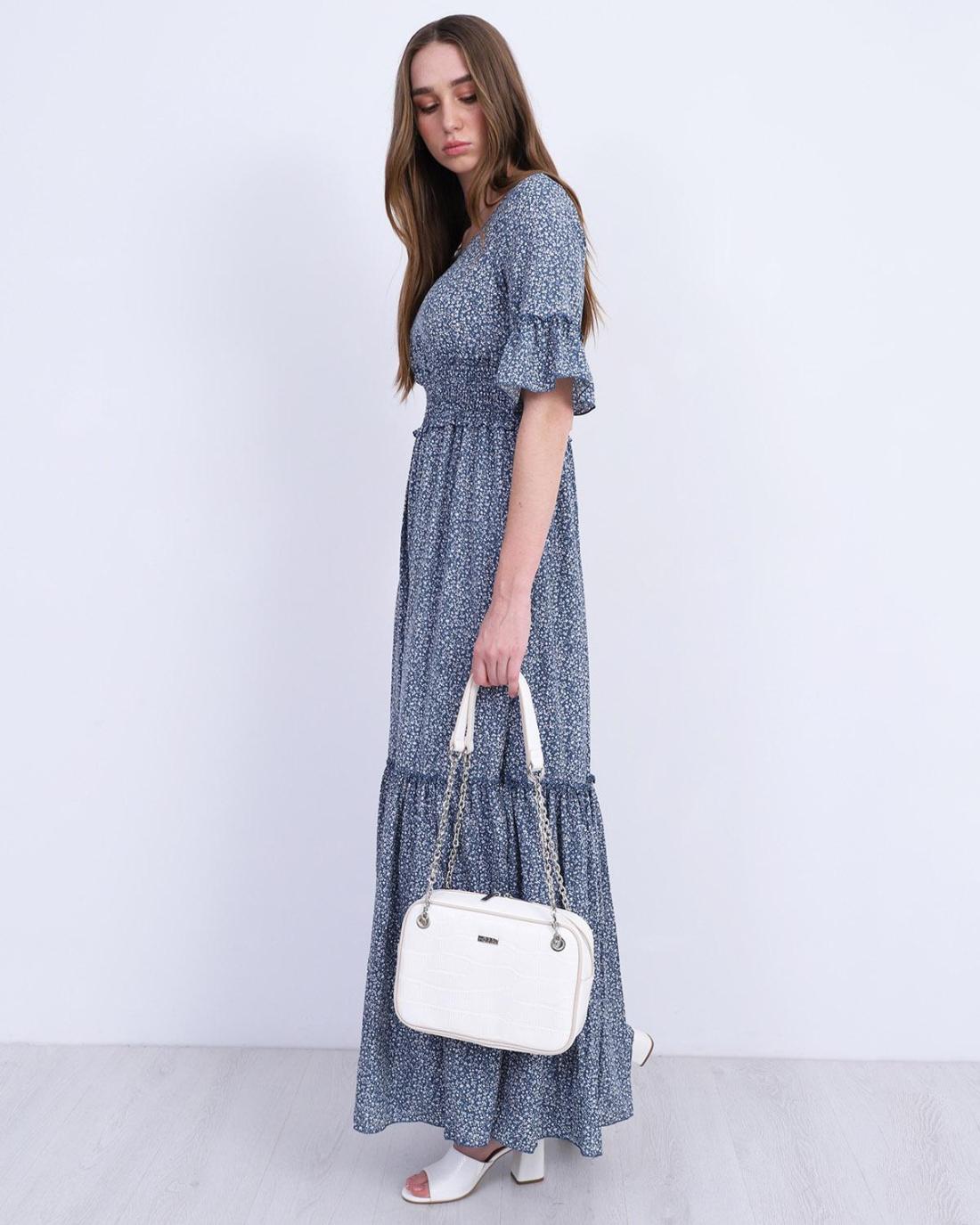 Μάξι φόρεμα μπλε