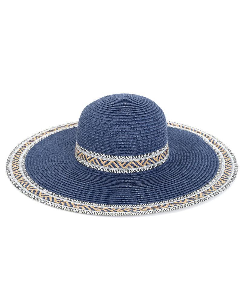 Paper straw blue hat