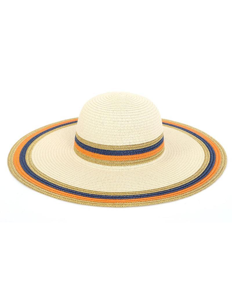 Ψάθινo καπέλο μπεζ