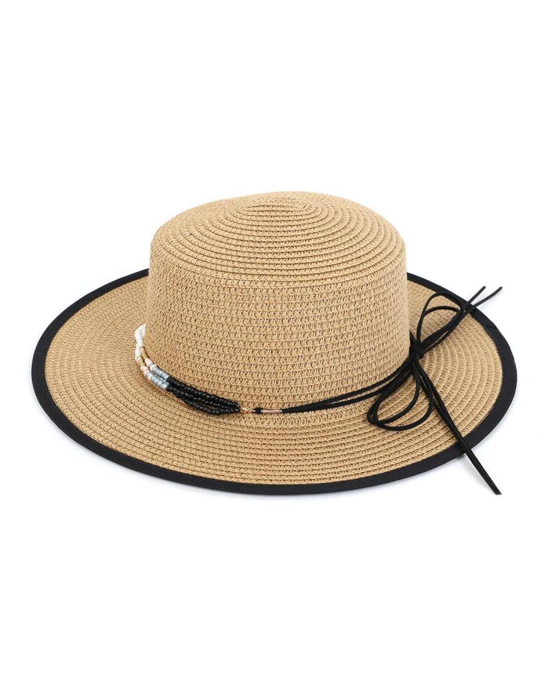 Ψάθινο καπέλο κάμελ