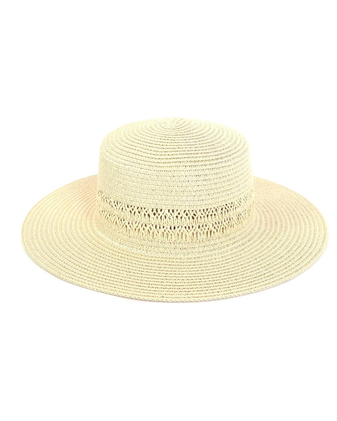 Ψάθινo καπέλο εκρού