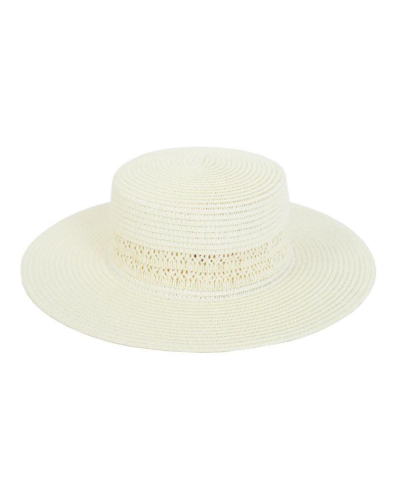 Paper straw ecru hat