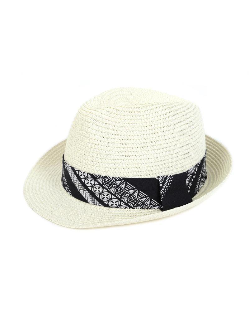 Ψάθινο καπέλο εκρού