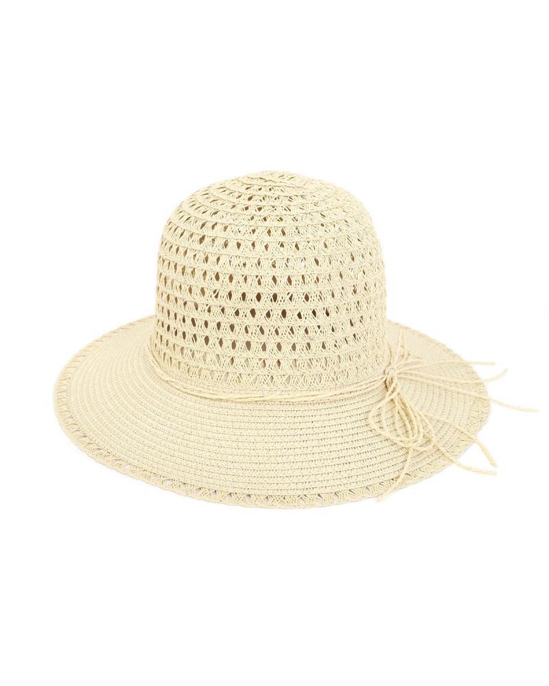 Paper straw beige hat