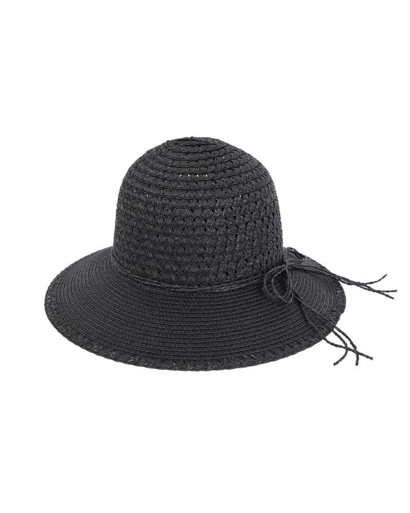 Ψάθινο καπέλο μαύρο