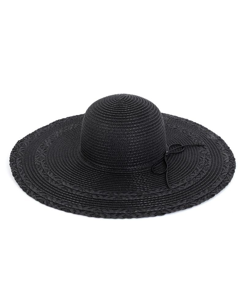 Ψάθινo καπέλο μαύρο