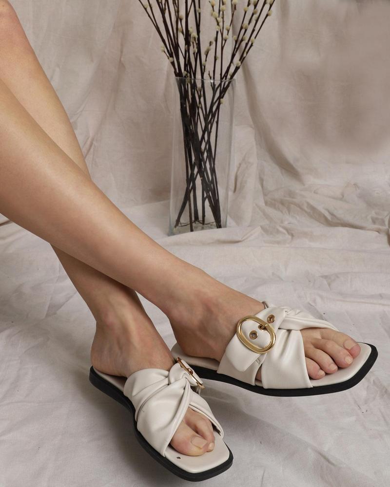 Ecru sandals