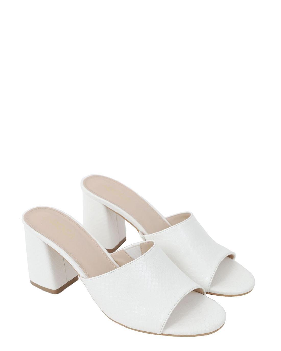 Mules άσπρα