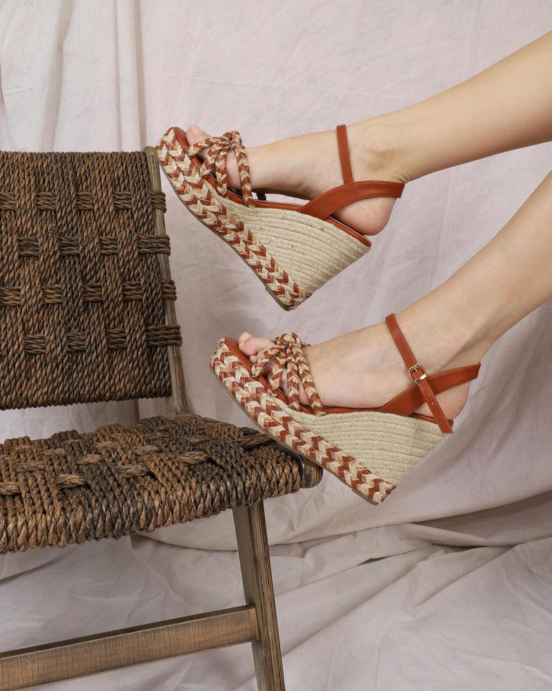Paper straw brown platforms