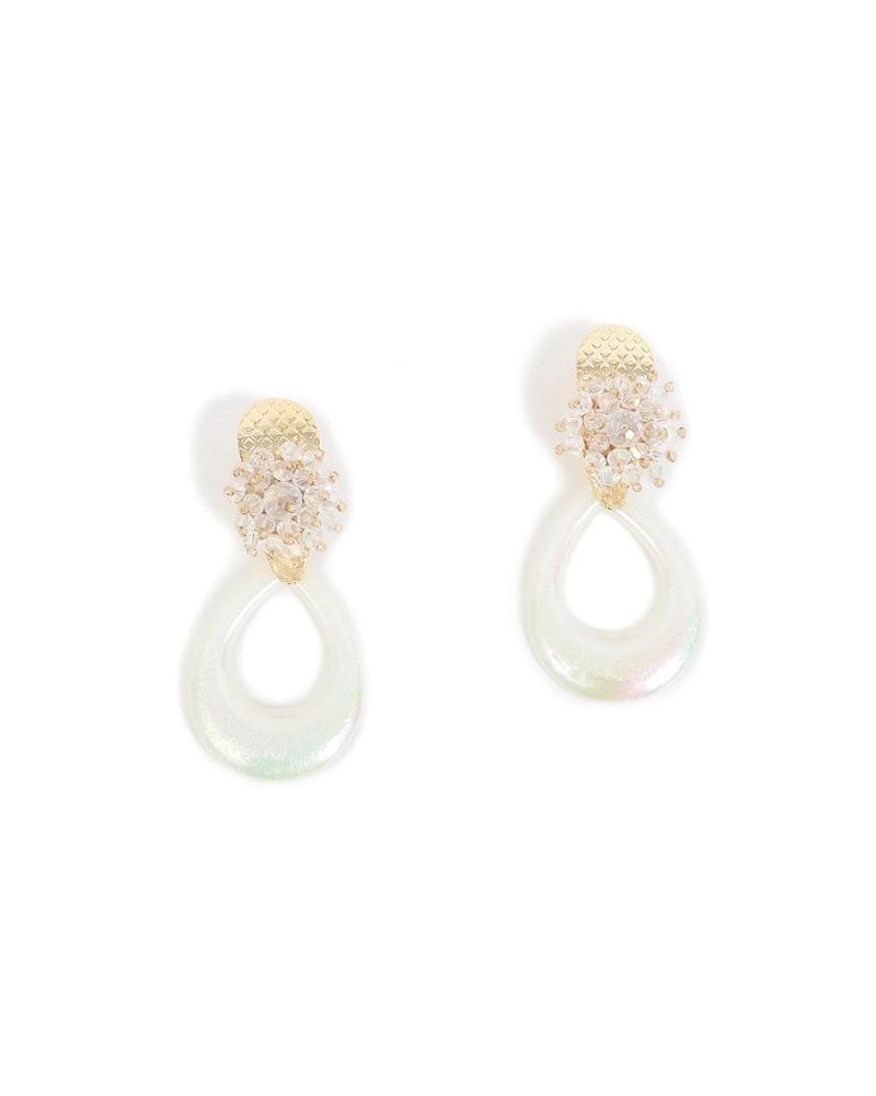 Σκουλαρίκια άσπρα