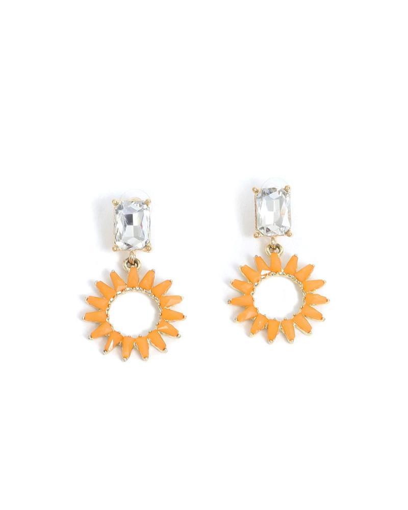 Orange earrings