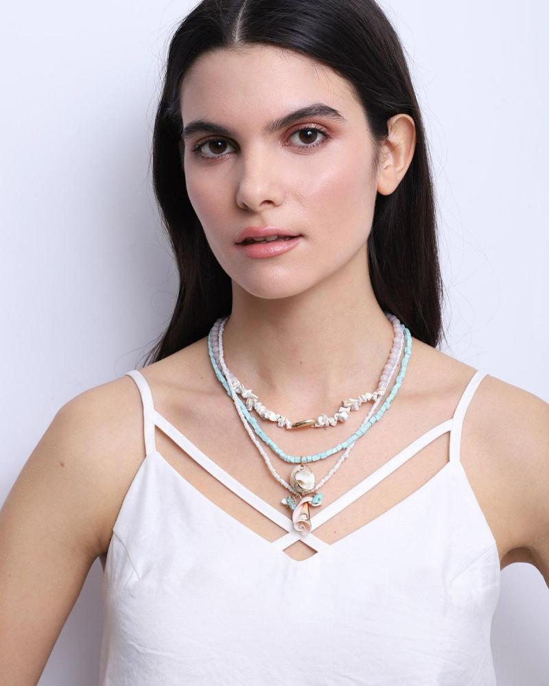 Mint green necklace