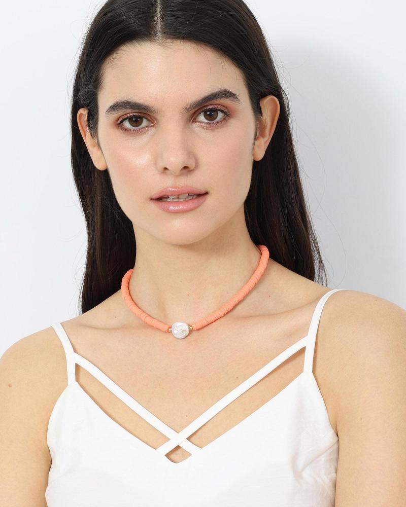 Orange halskette