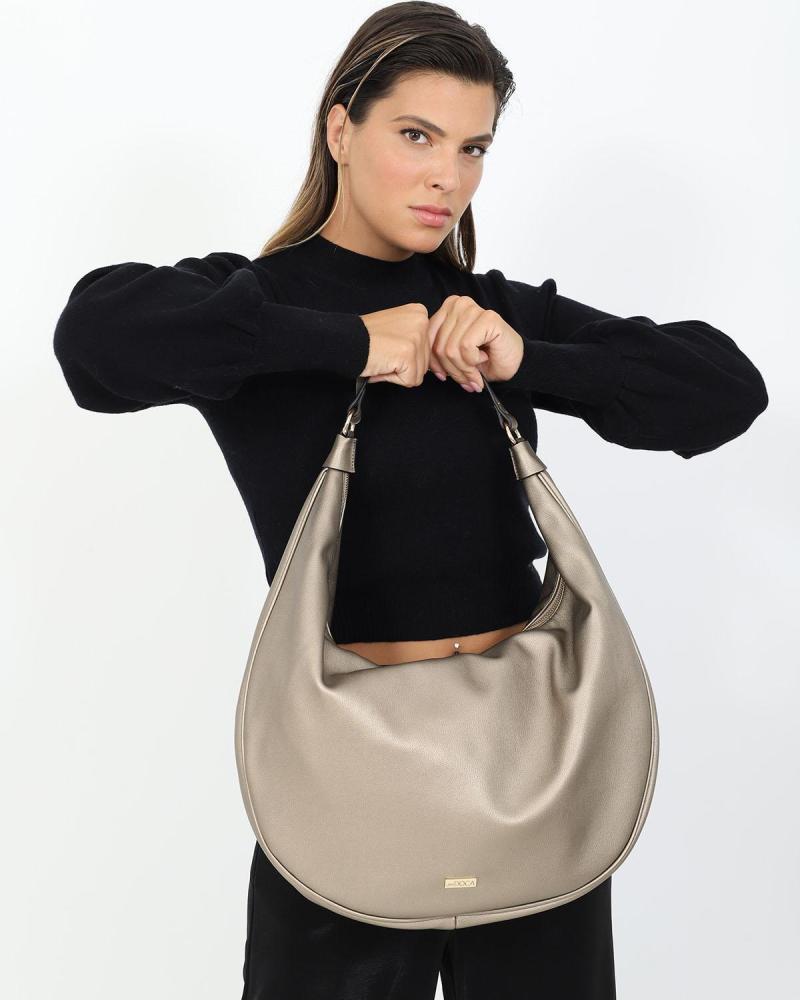 Silberne schultertasche/handtasche