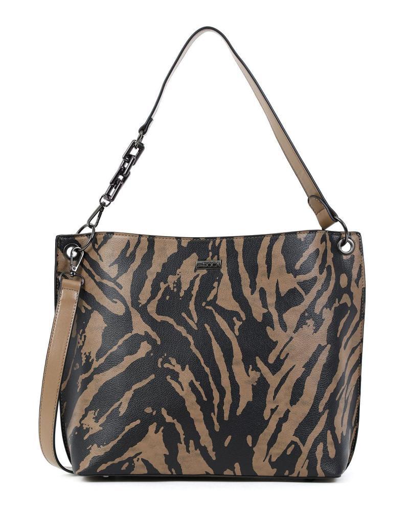 Animal print shoulder bag/handbag