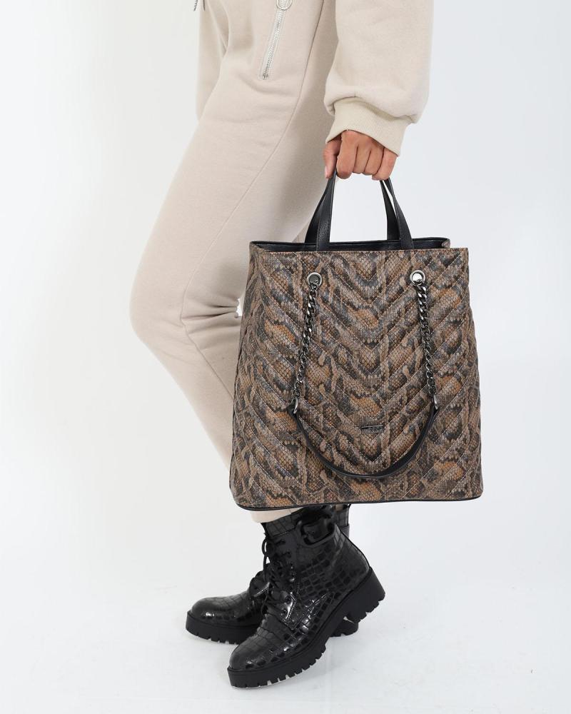 Braune schultertasche/handtasche