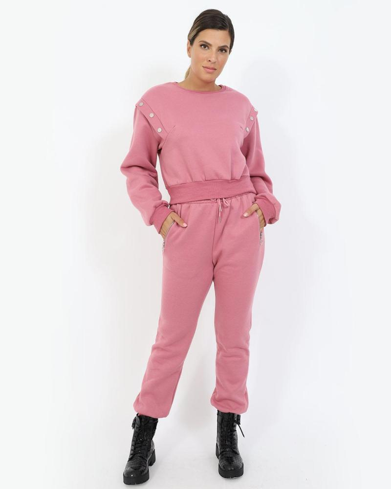 Φούτερ μπλούζα ροζ