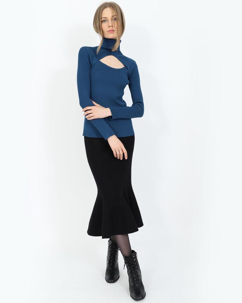 Blau pullover