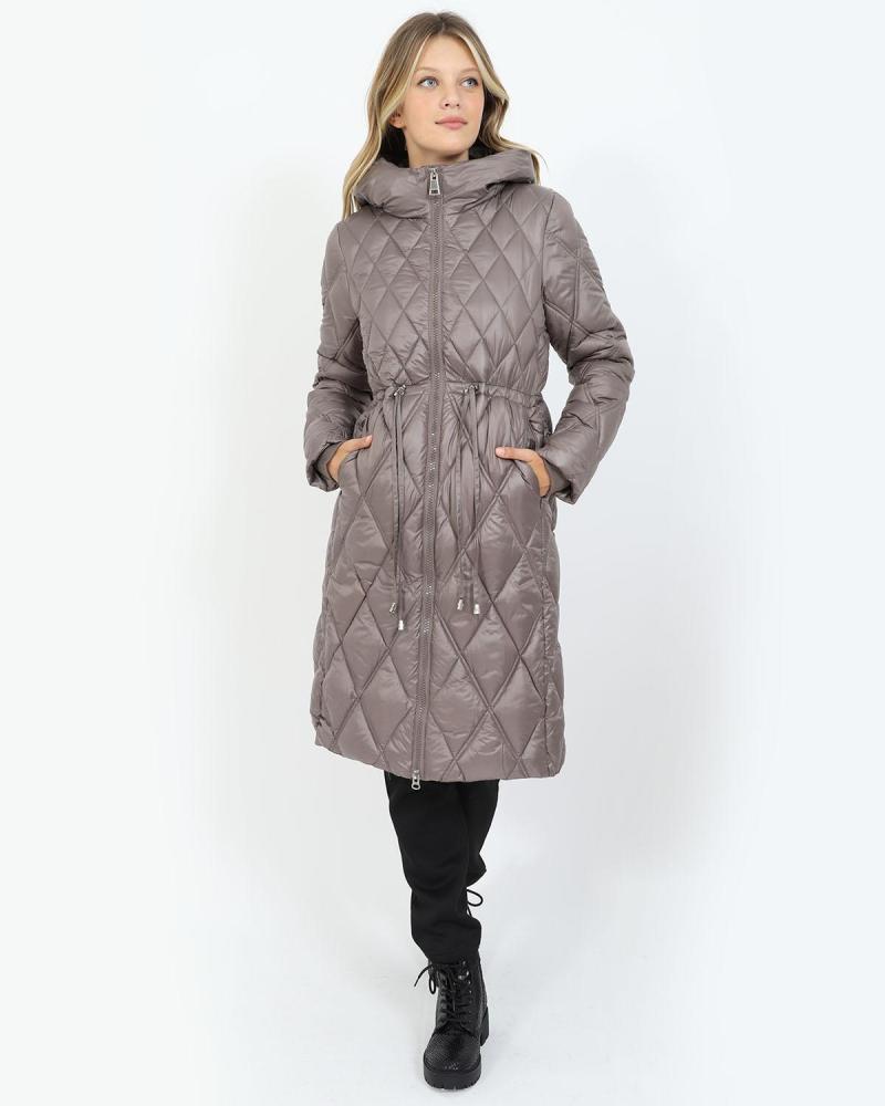 Brown puffer coat