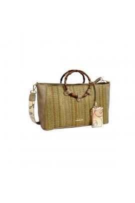 Khaki handbag bag