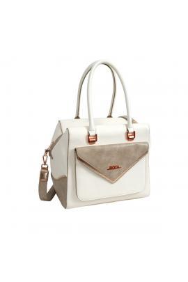 Beige handbag bag