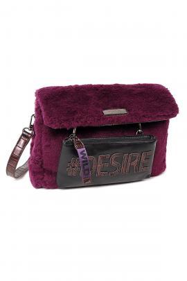 Purple cross body bag